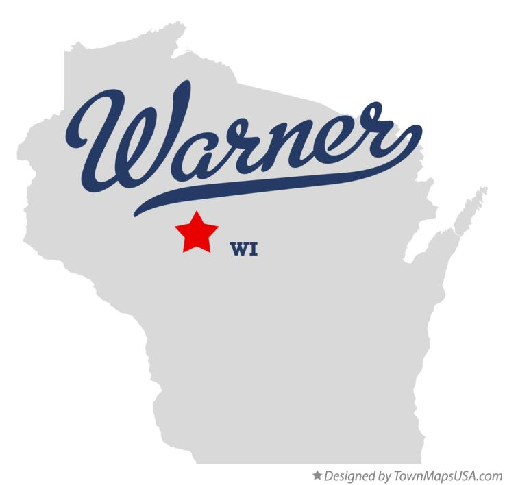 Map of Warner Wisconsin WI