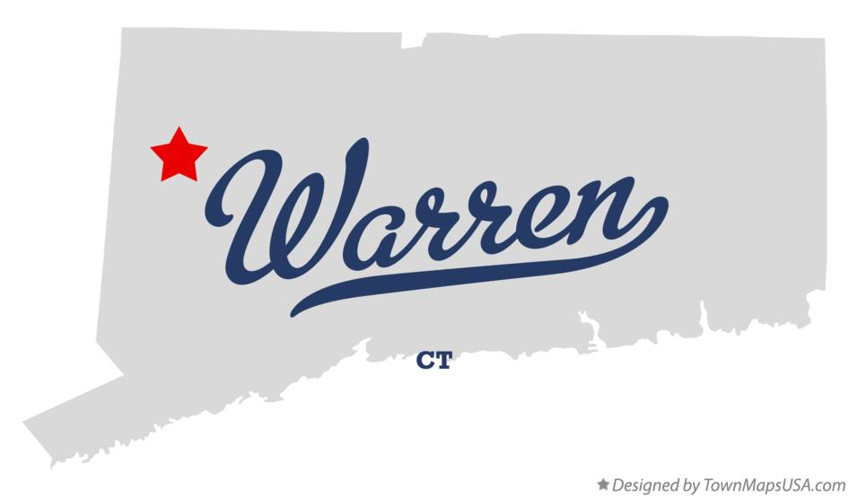 Map of Warren Connecticut CT