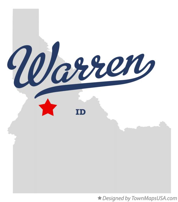 Map of Warren Idaho ID