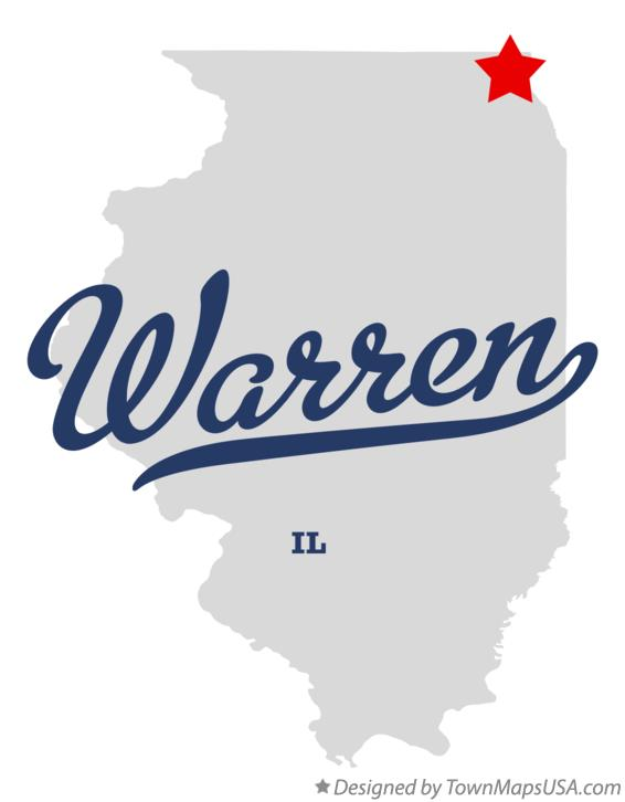 Map of Warren Illinois IL