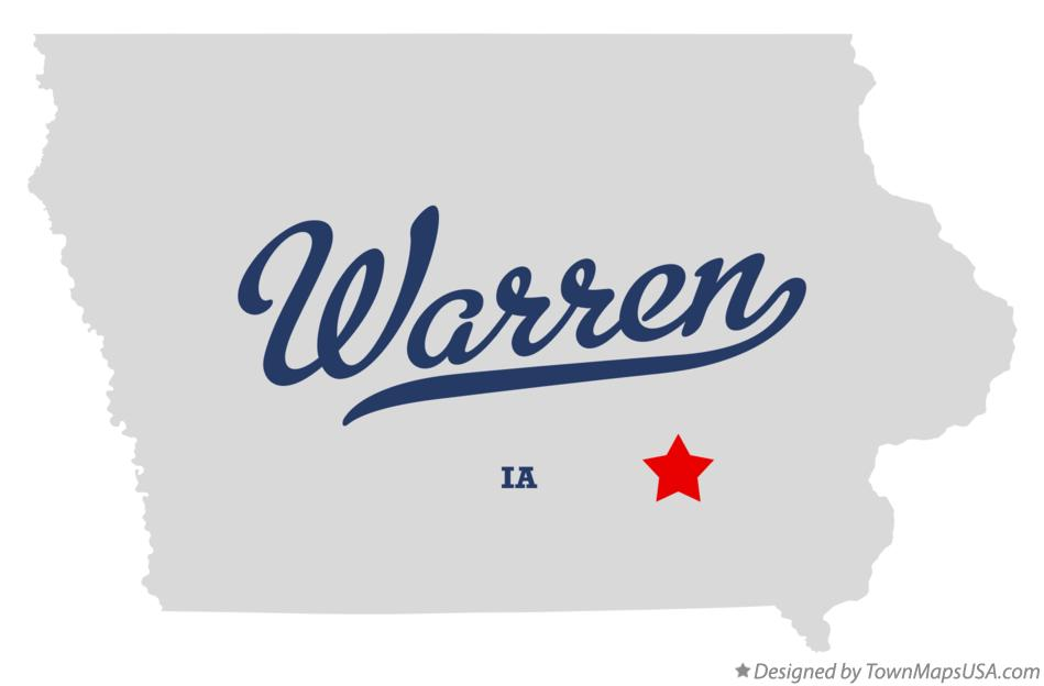Map of Warren Iowa IA