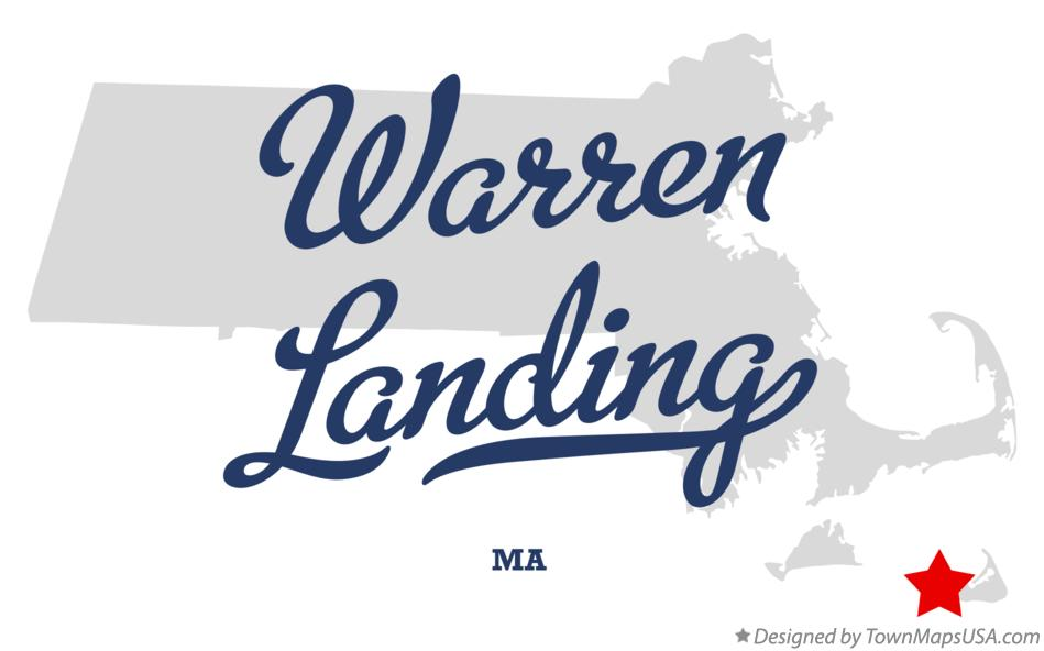 Map of Warren Landing Massachusetts MA