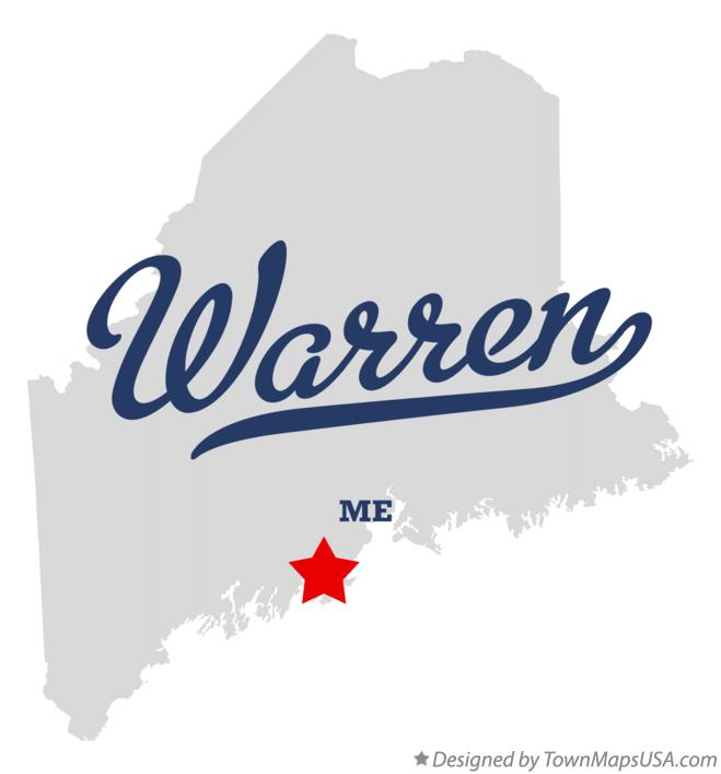 Map of Warren Maine ME