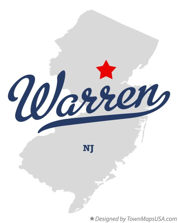 Map of Warren New Jersey NJ