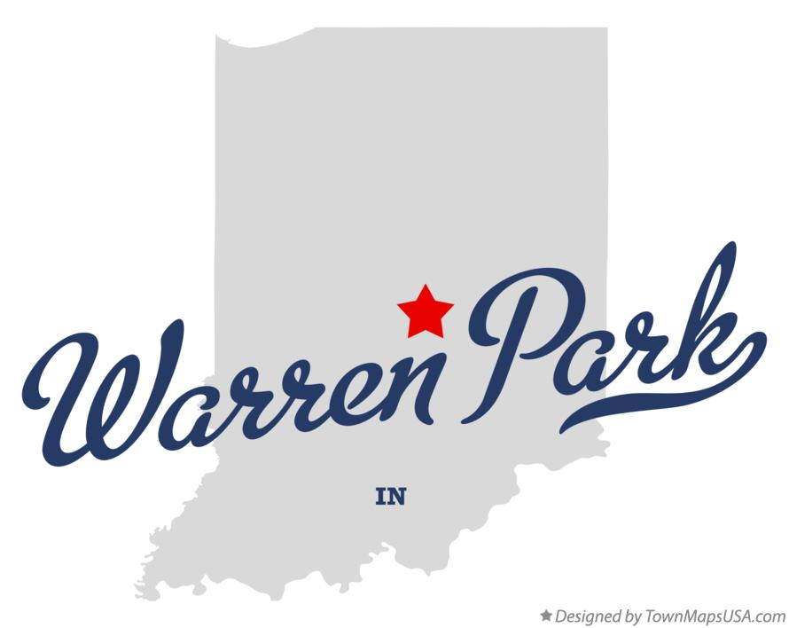 Map of Warren Park Indiana IN