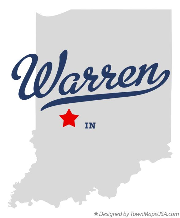 Map of Warren Indiana IN