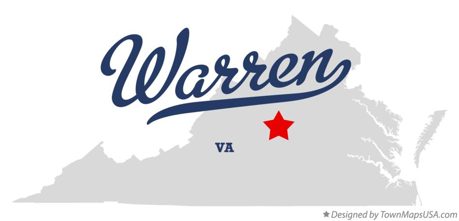 Map of Warren Virginia VA