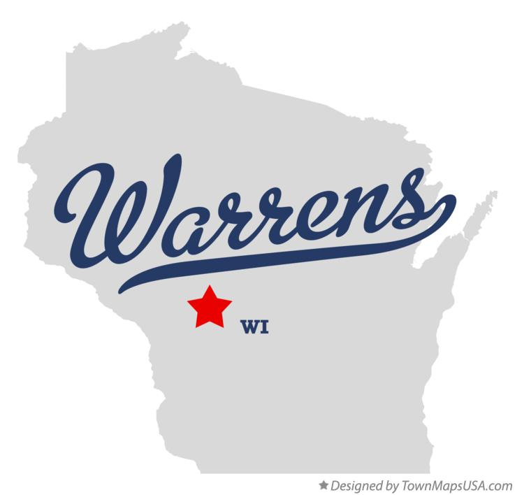 Map of Warrens Wisconsin WI
