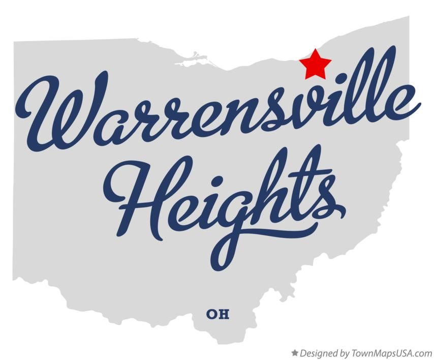 Map of Warrensville Heights Ohio OH