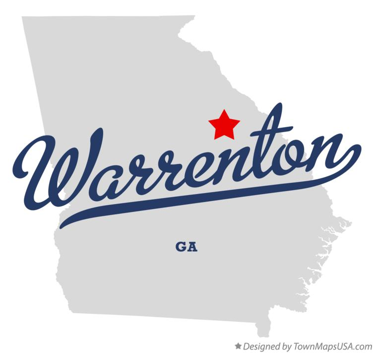Map of Warrenton Georgia GA
