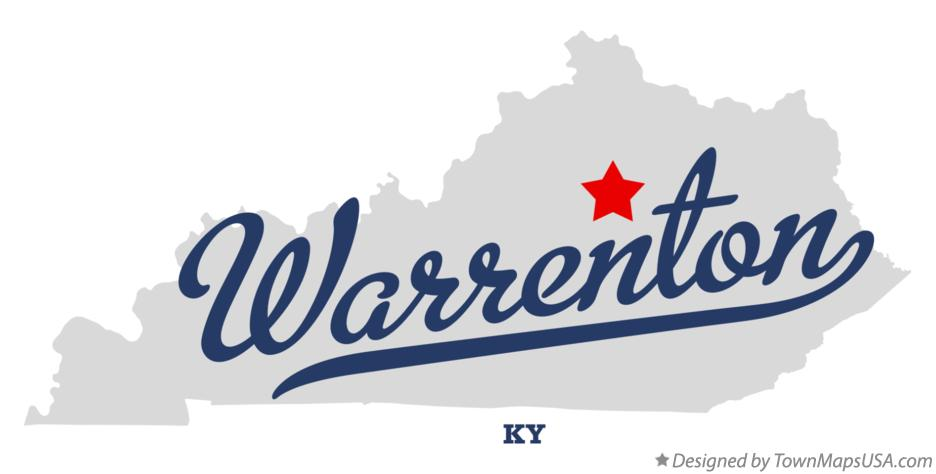 Map of Warrenton Kentucky KY