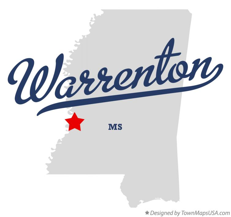 Map of Warrenton Mississippi MS