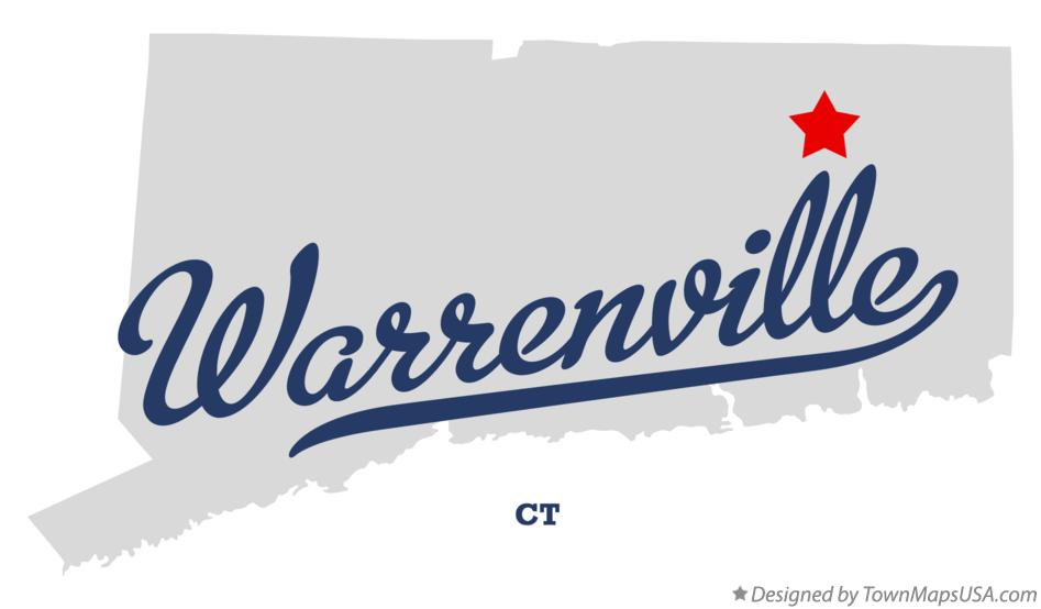 Map of Warrenville Connecticut CT