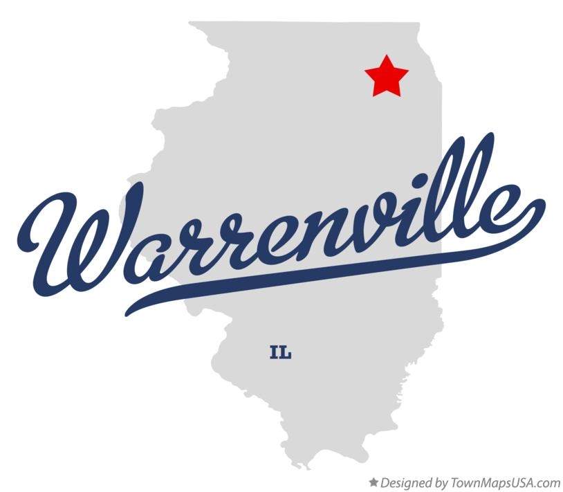 Map of Warrenville Illinois IL