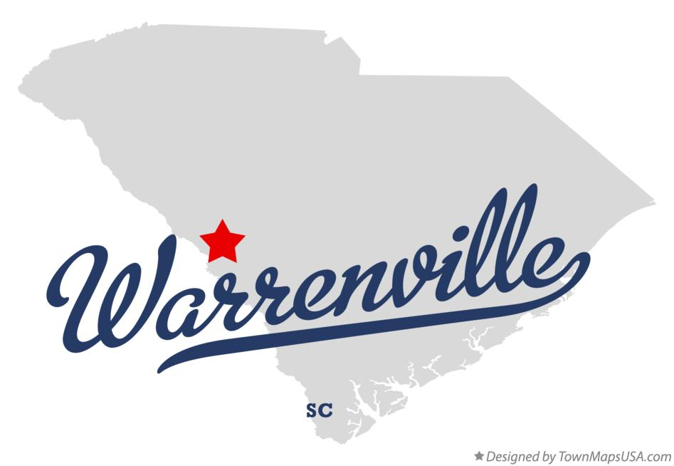 Map of Warrenville South Carolina SC
