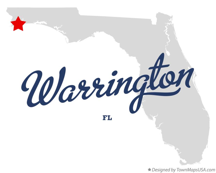 Map of Warrington, FL, Florida