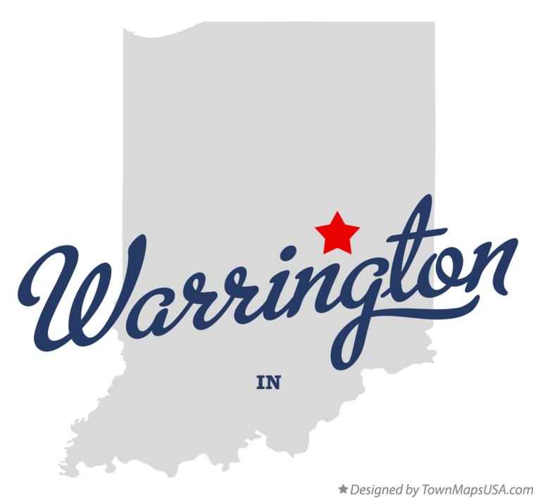 Map of Warrington Indiana IN