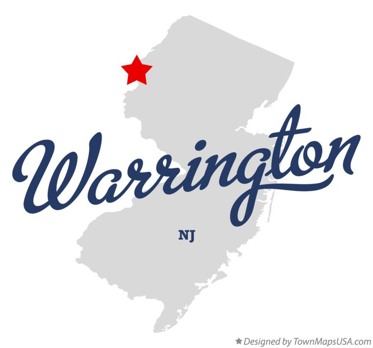 Map of Warrington New Jersey NJ