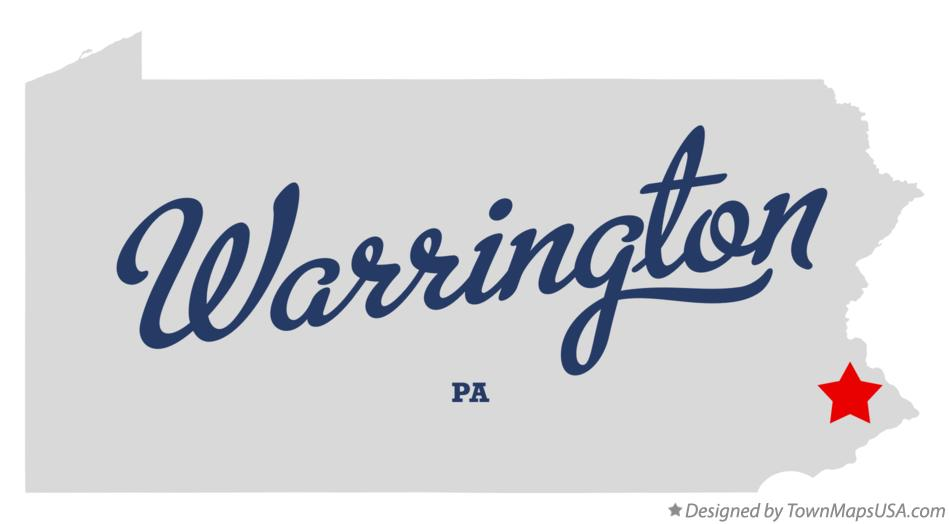 Map of Warrington, Bucks County, PA, Pennsylvania