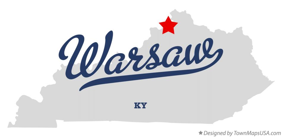 Map of Warsaw Kentucky KY