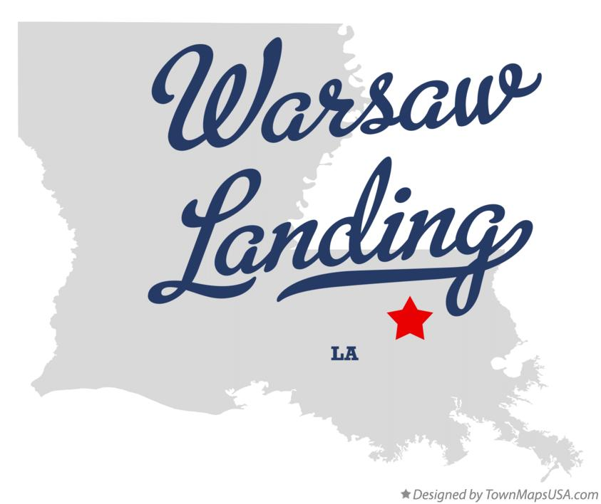 Map of Warsaw Landing Louisiana LA