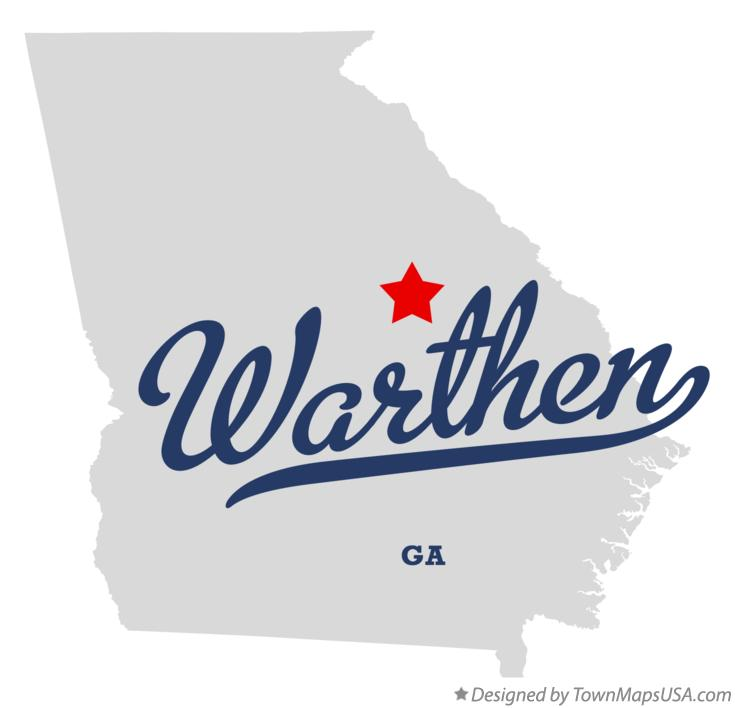 Map of Warthen Georgia GA