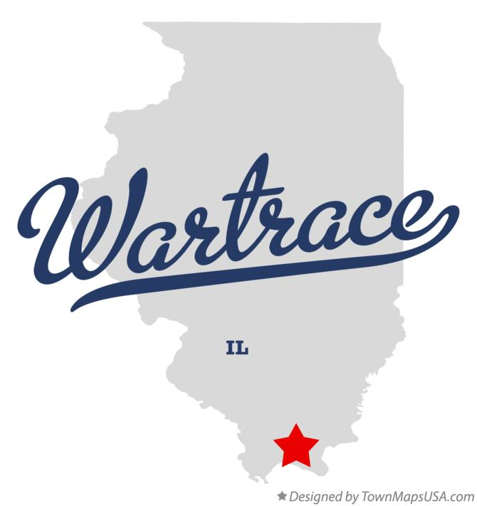 Map of Wartrace Illinois IL