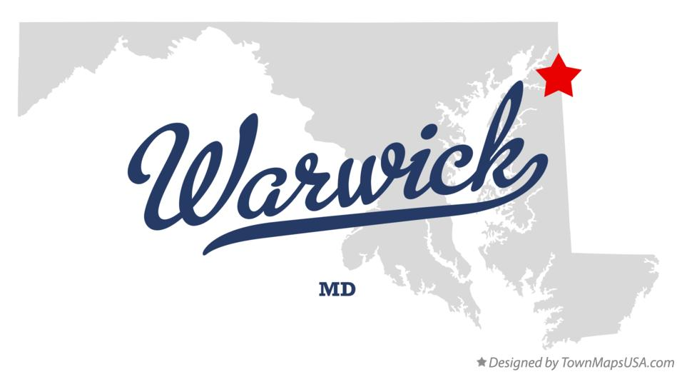 Map of Warwick Maryland MD