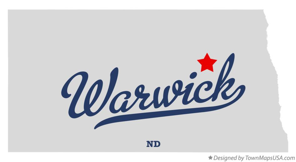 Map of Warwick North Dakota ND