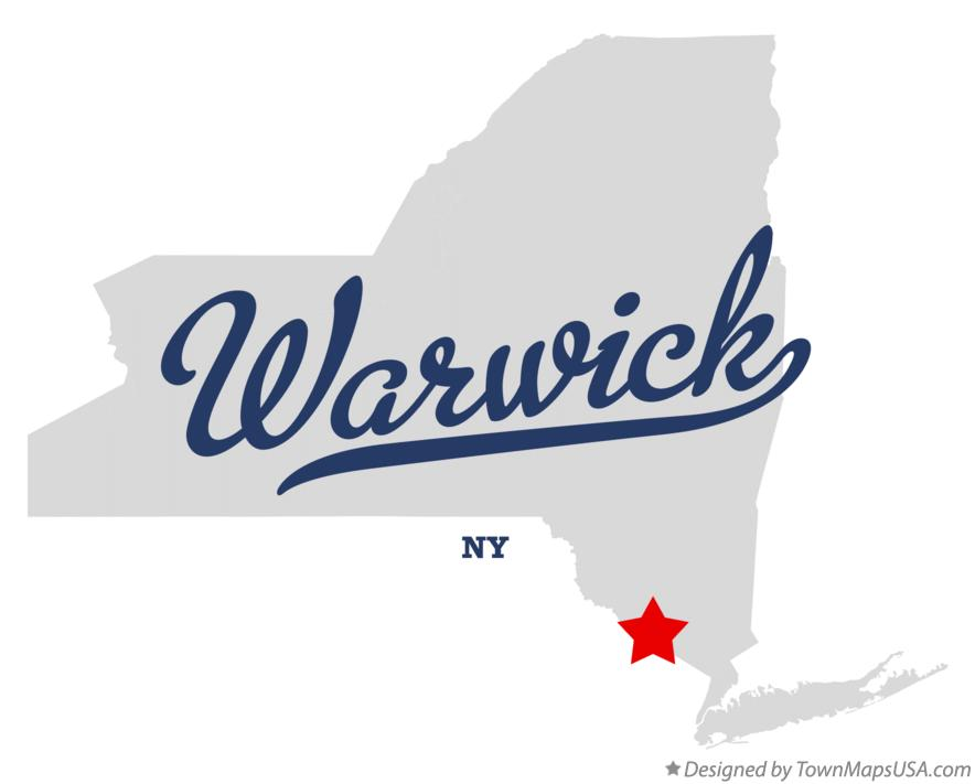 map of warwick ny new york