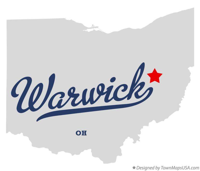 Map of Warwick Ohio OH