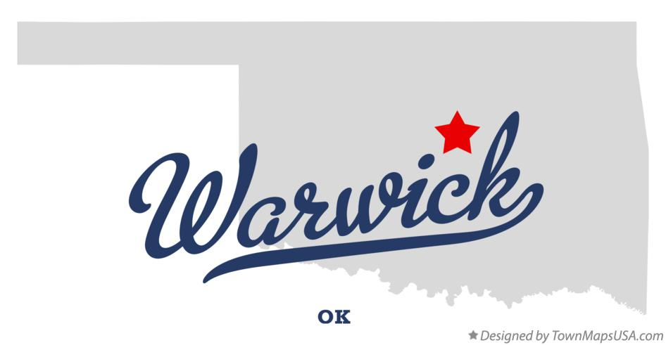 Map of Warwick Oklahoma OK