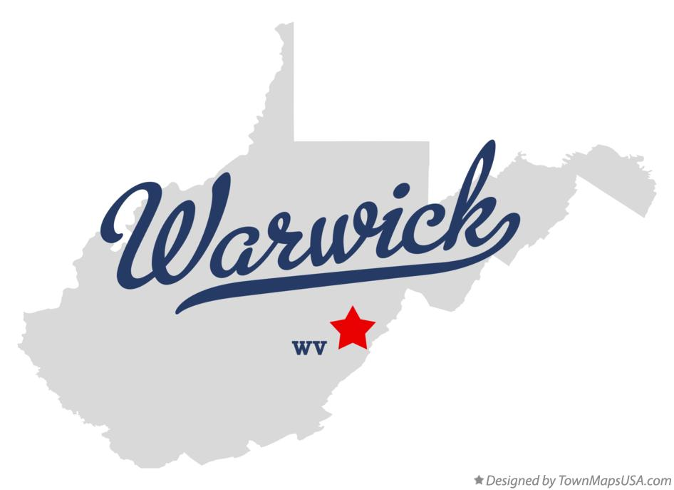 Map of Warwick West Virginia WV