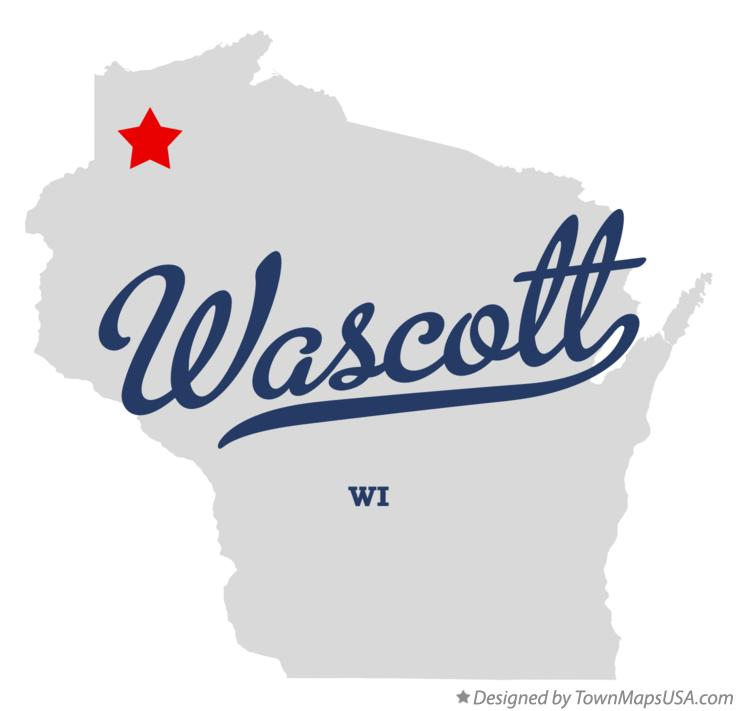 Map of Wascott Wisconsin WI