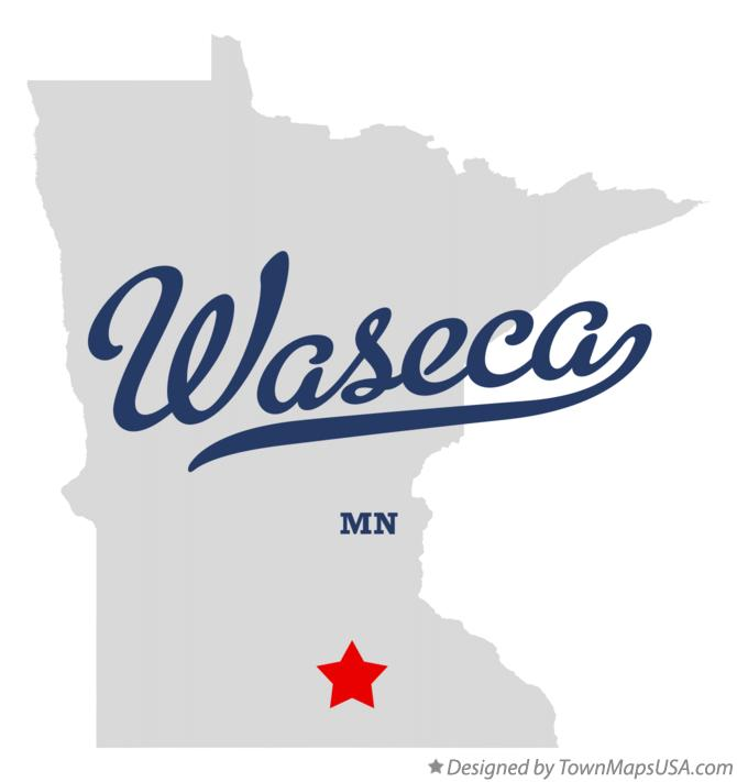 Map of Waseca Minnesota MN