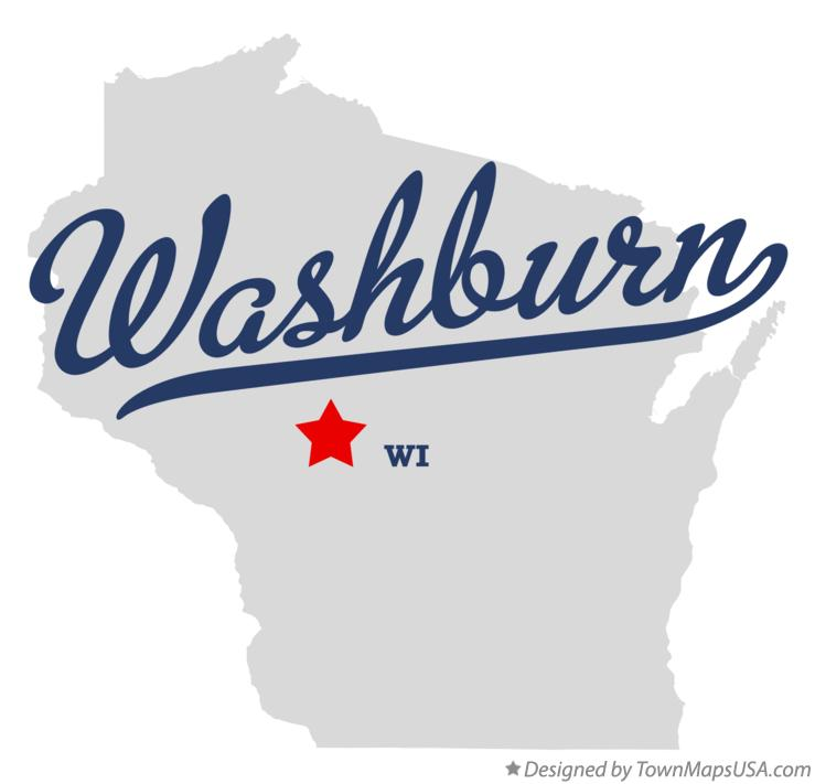 Map of Washburn Wisconsin WI
