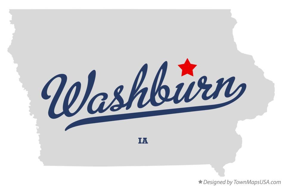 Map of Washburn Iowa IA