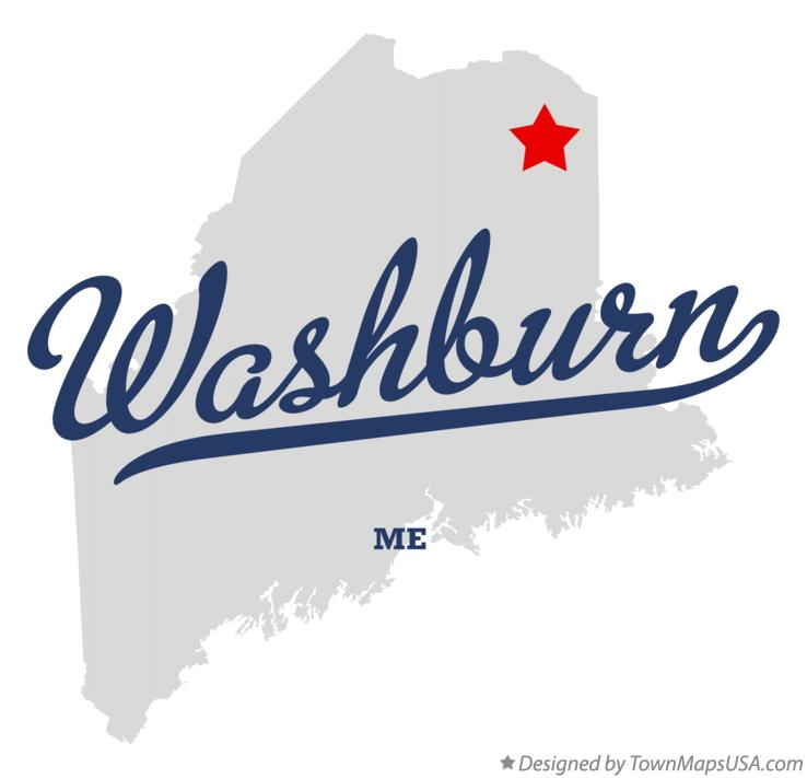 Map of Washburn Maine ME