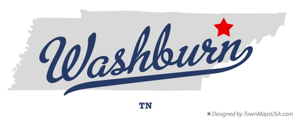 Map of Washburn Tennessee TN