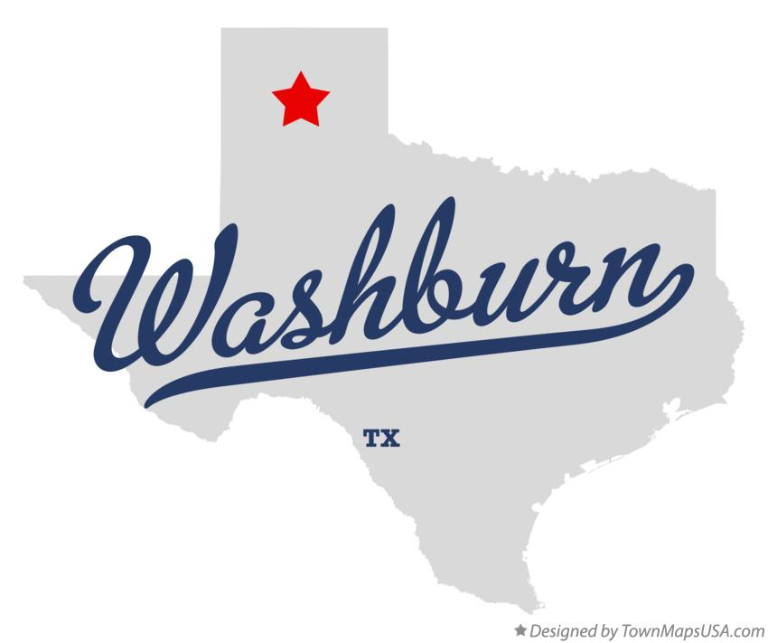Map of Washburn Texas TX