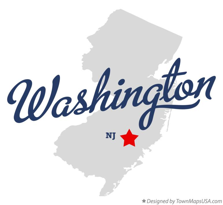 Map of Washington New Jersey NJ