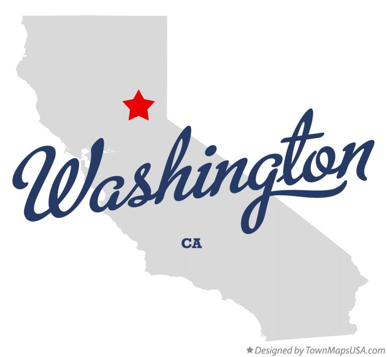 Map of Washington California CA
