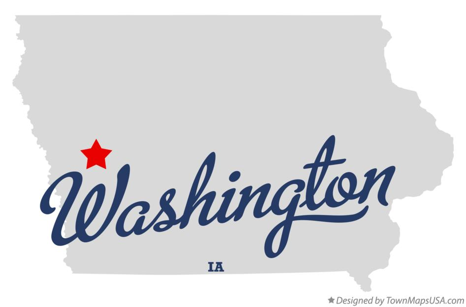 Map of Washington Iowa IA