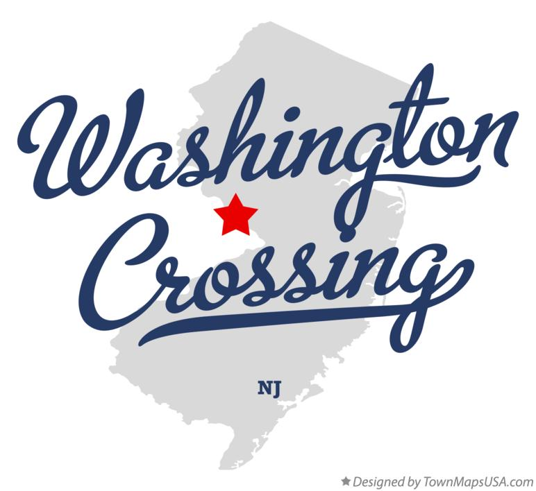 Map of Washington Crossing New Jersey NJ