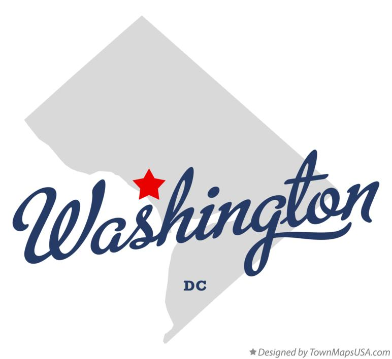 Map of Washington District Of Columbia DC