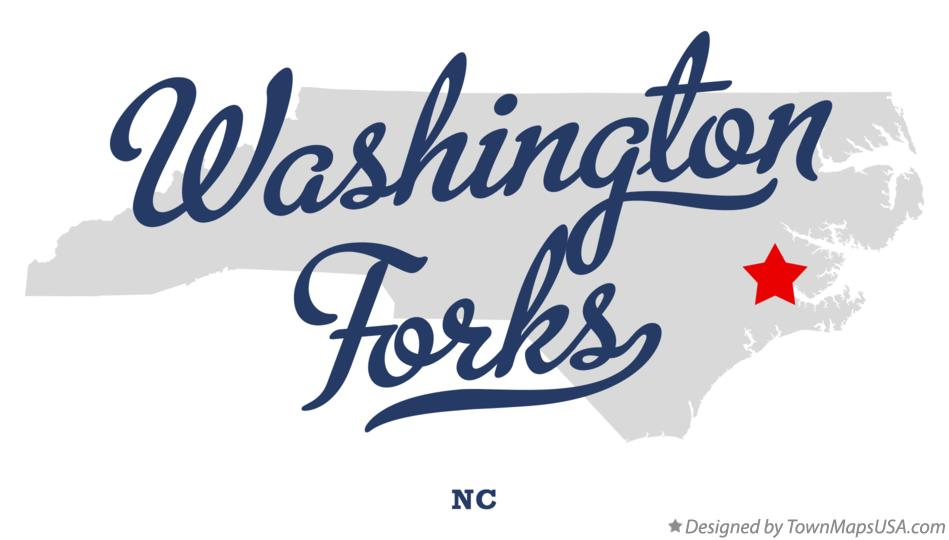 Map of Washington Forks North Carolina NC