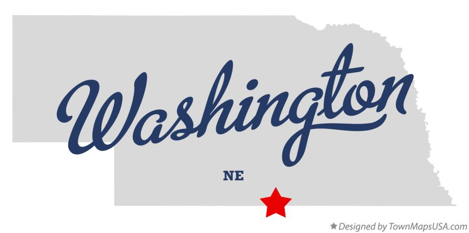 Map of Washington Nebraska NE
