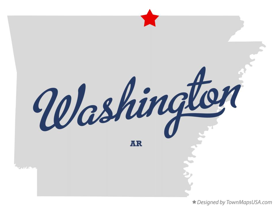 Map of Washington Arkansas AR