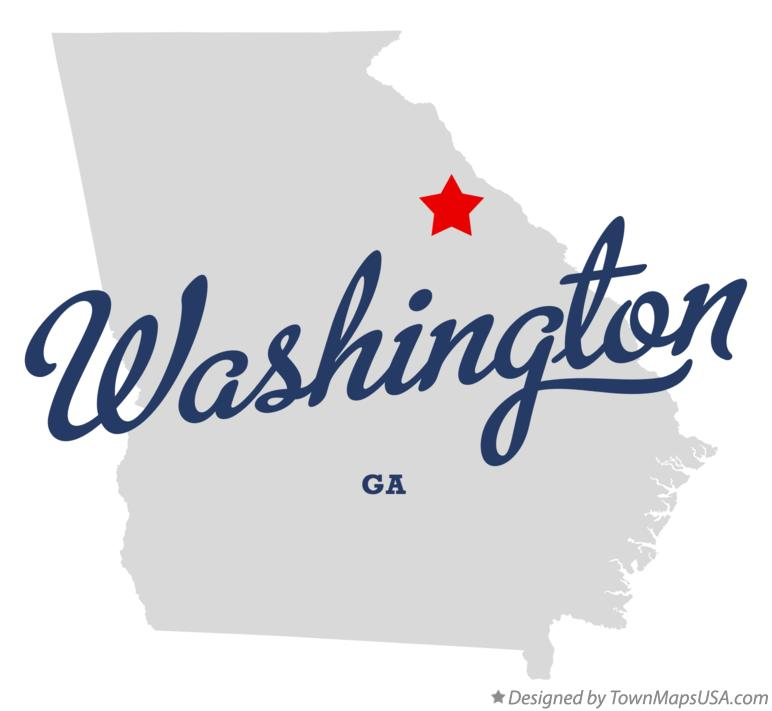 Washington Georgia Map.Map Of Washington Ga Georgia