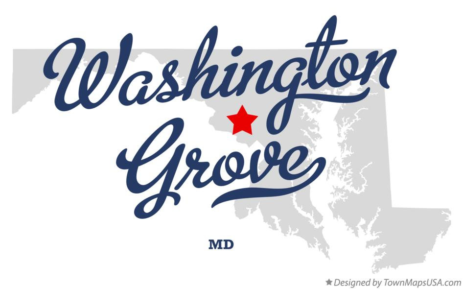 Map of Washington Grove Maryland MD
